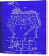 Mechanical Horse Patent Art 1b           Wood Print