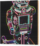 Mechanical Mighty Sparking Robot Wood Print