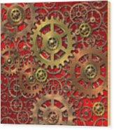 Mechanism Wood Print by Michal Boubin