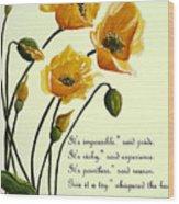 Meconopsis  Poem Wood Print