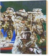 Med Evac Battle For Fallujah Iraq Wood Print