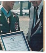 Medal Of Honor Ceremony Wood Print