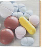 Medicinal Pills Wood Print