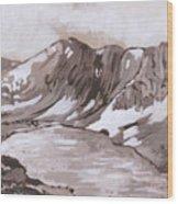 Medicine Bow Peak Historical Vignette Wood Print