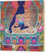 Medicine Buddha 11 Wood Print