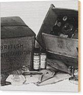 Medicine Chest, Scott Polar Expedition Wood Print
