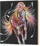Medicine Fire Pony Wood Print