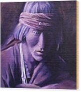Medicine Man Wood Print