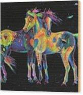 Medicine Ponies Wood Print