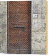 Medieval Florence Door Wood Print