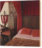 Medieval Glamping Tent Wood Print