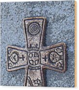 Medieval Nordic Cross Wood Print