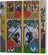 Medieval Scene Wood Print