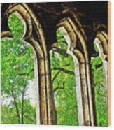 Medieval Triptych Wood Print