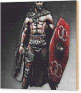 Medieval Warrior - 13 Wood Print