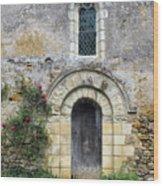 Medieval Window And Door Wood Print
