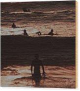 Meditari - Red Wood Print