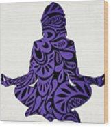 Meditate Ultraviolet Wood Print