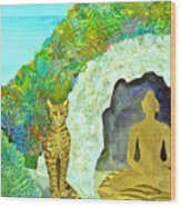 Meditation At Dawn Wood Print