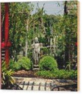 Meditation Garden Wood Print