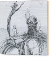 Meditation Wood Print by Mark Johnson