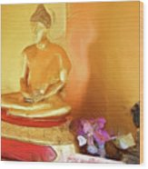 Meditation Room Buddha Wood Print