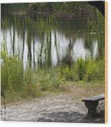 Meditation Spot By A Pond Wood Print