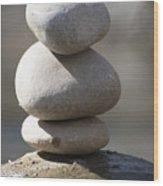 Meditation Stones Wood Print