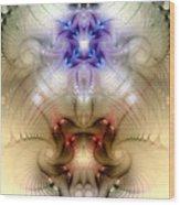 Meditative Symmetry 3 Wood Print