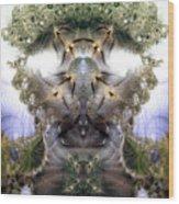 Meditative Symmetry 5 Wood Print