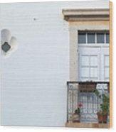 Mediterranean Balcony Wood Print
