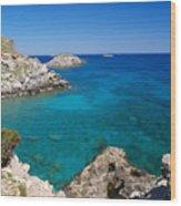 Mediterranean Blue Wood Print