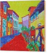 Mediterranean Cityscape Wood Print
