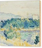 Mediterranean Landscape With A White House Wood Print