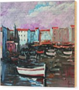 Mediterranean Port Wood Print