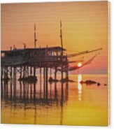 Mediterranean Sunrise Wood Print