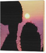 Mediterranean Sunrise Wood Print