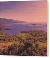 Mediterranean Sunset Glow Wood Print