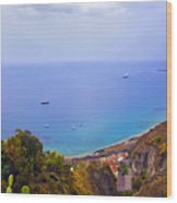 Mediterranean View Wood Print