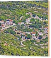 Mediterranean Village On Island Of Vis Wood Print