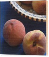 Mediterrannean Peaches Wood Print