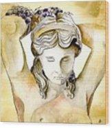 Meditrina Goddess Of Wine Wood Print