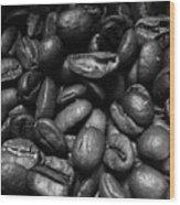 Medium Roast In Black And White Wood Print