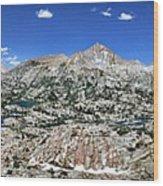 Medley Lake Basin Panorama From High Above - Sierra Wood Print