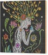 Medusa De Flores Wood Print
