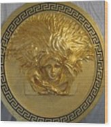 Medusa Gold Plated Wood Print