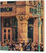 Meet You At Hudson's Wood Print