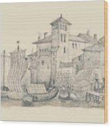 Meeting At The Docks Classics 2 Wood Print