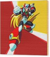 Mega Man X Wood Print