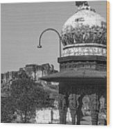Mehrangarh Fort - Approach With Caution Bw Wood Print